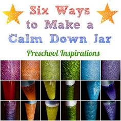 How do you make a calm down jar- Here are six different recipes. 6 Ways to Make a Calm Down Jar by Preschool Inspirations How do you make a calm down jar- Here are six different recipes. 6 Ways to Make a Calm Down Jar by Preschool Inspirations Sensory Activities, Preschool Activities, Sensory Wall, Sensory Boards, Sensory Bins, Calm Down Jar, Calm Down Bottle, How To Calm Down, Calming Bottle