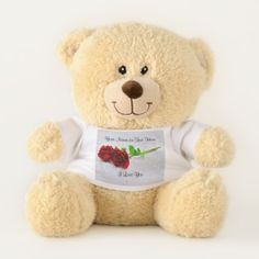 I Love You Red Roses #2 Teddy Bear - valentines day gifts diy couples special day