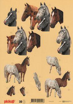 Horses 3D Decoupagepaper Pickup