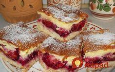 Tento koláčiky nie je vôbec zložitý, u nás doma je však top letným dezertom. Len čo začnú rodiť čerešne, slivka alebo naša marhuľa, už rozvoniava v našej kuchyni. Hungarian Desserts, Hungarian Recipes, Sweet Recipes, Cake Recipes, Dessert Recipes, Delicious Desserts, Yummy Food, Czech Recipes, Ethnic Recipes