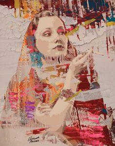 "Saatchi Online Artist: Hossam Hassan; Paint, 2012, Mixed Media ""Back to Beauty""…"