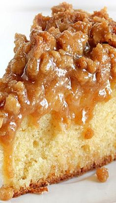 Carmel apple coffee cake
