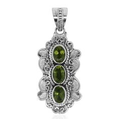 Bali Legacy Collection Hebei Peridot Sterling Silver Pendant without Chain TGW 2.52 cts. | bali-legacy | promotions | online-store | Shop LC
