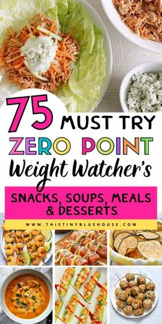 75 Zero Point Weight Watchers Food Ideas - This Tiny Blue House - Trend Cocktail Food Ideas 2019 Weight Watchers Appetizers, Weight Watchers Lunches, Weight Watchers Breakfast, Weight Watchers Diet, Weight Watcher Dinners, Healthy Recipes On A Budget, Ww Recipes, Healthy Cooking, Healthy Snacks