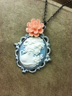 Cameo Necklace: Featuring creamy white by RachelsOriginalGifts ~ Jewelry So Adorable It's ADORNable TO ORDER: Please visit my FB and/or Etsy pages at the following links! www.facebook.com/RachelsOriginals www.rachelsoriginalgifts.etsy.com