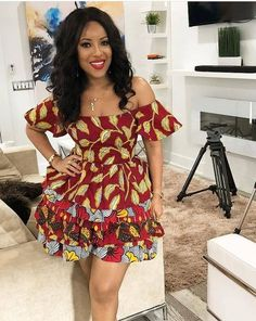 These short ankara gown styles of 2018 are beautiful Ankara Short Gown Styles, Short Gowns, Latest African Fashion Dresses, African Print Dresses, African Dresses For Women, African Wear, African Attire, African Women, African Prints