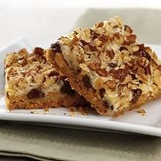 This bar cookie is an old fashioned favorite. Chocolate chips, nuts and coconut are set in a caramelized layer on top of a graham cracker crust.