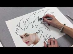 Beginning Crazy Hair and Fashion Zentangle - YouTube