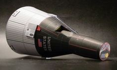 Gemini Command And Service Modules Paper Model - by Ton Noteboom