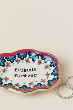 Friends Forever Small Artisan Trinket Dish