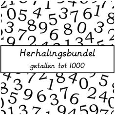 Herhalingsbundel tot 1000 - De juffrouw zegt Primary Maths, Primary School, Elementary Schools, Numbers For Kids, Math Numbers, Visible Learning, Fun Learning, Starting School, Math Stations