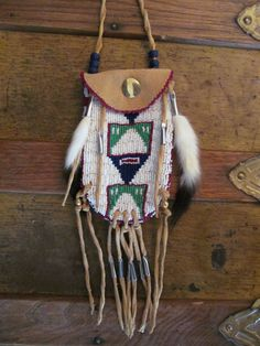 Lakota Sioux Style Beaded Medicine Bag by MountainMan4sale on Etsy, $166.00
