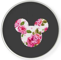 Instant Download,Free shipping,Counted Cross stitch pattern,Cross-Stitch PDF, pillow pattern ,flower mice ,china ,zxxc0635