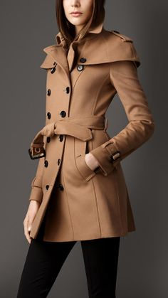 Wool Cashmere Caped Trench Coat | Burberry