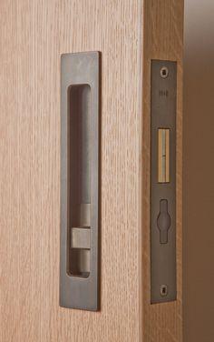 Sliding Door Hardware HB 690 Privacy Lock - Halliday Baillie