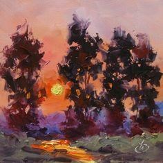 TOM BROWN, COLORFUL PLEIN AIR PAINTING, original painting by artist Tom Brown | DailyPainters.com