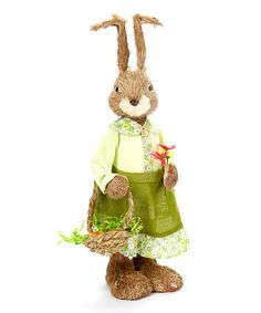 How cute is she?!?  Another great find on #zulily! Brooke Rabbit & Basket Figurine #zulilyfinds