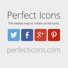 The easiest way to create custom social icons. No images. Resolution independent.
