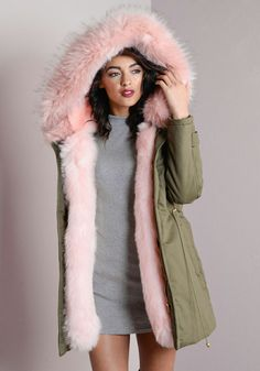 90226e56ed3e 13 Best Chic colour fur parka images