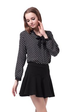 ZEARO Damen Bluse mit Schleife Langarm Hemdblusen Chiffonbluse Tuniken Oberteil Langarmshirts: Amazon.de: Bekleidung