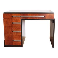 Image of Original 1930's Donald Deskey for Widdicomb Machine Age Art Deco Asymetric Desk
