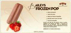 Frozen Pop Licor Baileys, Baileys Recipes, Freeze Pops, No Churn Ice Cream, Cocktail Desserts, Popsicle Recipes, Food Humor, Yummy Treats, Dessert Recipes
