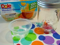 Recycle Tip: Fruit Cups + Mason Jars