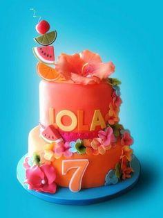 Hawaiian theme cake