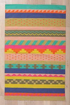 Beci Orpin Striped Tribal Rug