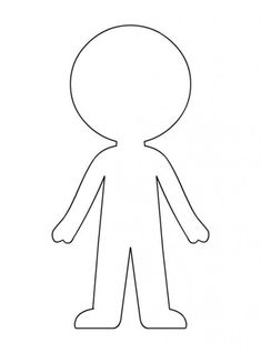 Blank Paper Doll Templates from category. Find out more cool images to color for your children Paper Doll Template, Paper Dolls Printable, Doll Crafts, Paper Crafts, Paper Games For Kids, Paper Doll Chain, Fabric Doll Pattern, Kindergarten Crafts, Preschool