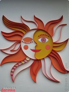 Love this quilled sun