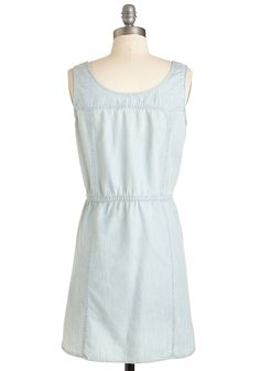 Catch Some Chambrays Dress. Grab your shades and soak up the sun in this pale chambray dress from Jack by BB Dakota! #blue #modcloth