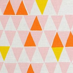 Pastel pink with pops of bright yellow & orange