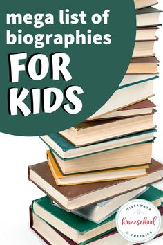 If you enjoy reading about famous people, in addition to what you are studying in homeschool subjects, you'll love this mega list of biographies for kids.#biographiesforkids #historybiographies #missionarybiographies #hsgiveaways Handwriting Worksheets, Reading Resources, Fun Learning, Book Lists, Biography, Fun Activities, Homeschool, Author, Teaching
