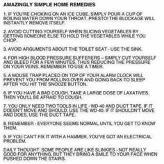 Amazingly simple home remedies :-) *who knew!*