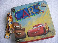 Disney CARS Chipboard Scrapbook Mini Album by ljbminis2021 on Etsy, $15.99