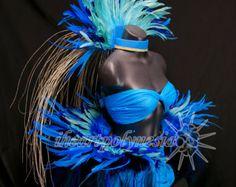 Costume de Tahiti avec pièce de tête réversible par iheartpolynesia