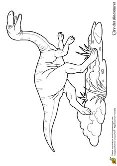 Un monstrueux dinosaure Galiminus, à colorier