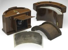 Old school: a panoramic plate camera from the 1800's.