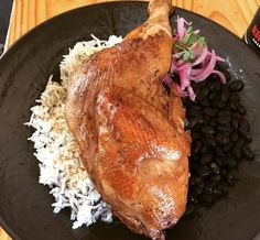 All we can say is Oh WOW! Today\'s special @boca31.denton :House Smoked Half Chicken with Rice and black beans! ($14.50) #ifyouwantitcomeandgetit #soyummy#denton #dentoning #UNT #TWU #foodporn #chefslife #wedentondoit #dentoneats #dentonproud #boca31 #latinflavors #visitdenton #welovedenton #smokedchicken #boca31specials #weloveboca31