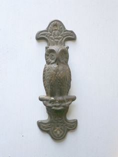Vintage Owl Door Knocker in Brass by TheLuckyFox on Etsy, $14.00