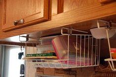 under cabinet basket storage