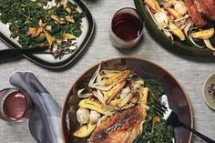 Roast Chicken with Potatoes and Onions / Marcus Nilsson