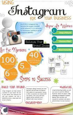 Using Instagram for Business Infographic http://www.helpmequitthe9to5.com internet #business #instagram #socialmedia #socialmediamarketing social media marketing #infographic