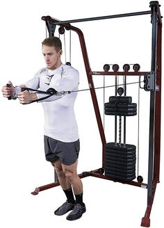 Body-Solid Best Fitness Functional Trainer Weight Gym Home Tower Equipment Power Month Workout Challenge, Workout Schedule, Home Gym Garage, At Home Gym, Rack Crossfit, Fitness Herausforderungen, Fat Burning Cardio, Crossover, Daily Exercise Routines