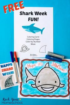 Need some easy ways to make Shark Week Fun with kids? This FREE printable pack is great for all ages to get involved in this annual celebration. Includes coloring card, coloring pages, color-by-number, & maze. Kindergarten Reading Activities, Kindergarten Freebies, Summer Activities For Kids, Fun Activities, Color By Number Printable, Shark Coloring Pages, Daycare Themes, Shark Week, Kids Education