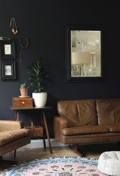 Impulsive Decorating: Our Black Living Room Wall Part 24