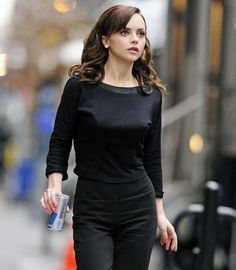 Christina Ricci from Pan Am RED BULL, they didn't have that back then!