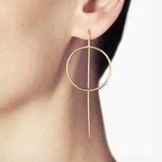 AM Loops Ohrringe - Gold - alt_image_two