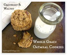 Whole Grain Oatmeal Cookies: cranberry-walnut| An Oregon Cottage